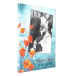 BridalHeaven Blumenhochzeits-Foto-Leinwand (11x14) Leinwand Drucke