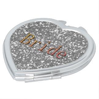 Bride_ALL SEASON'S-SILVER--Bronze-Herz Taschenspiegel