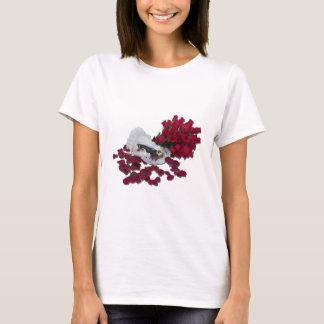 BrideGroomCakeTopperRoses100711 T-Shirt