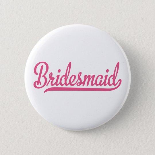 bridesmaid runder button 5,1 cm