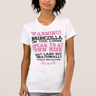 Bridezilla auf dem losen T-Shirt