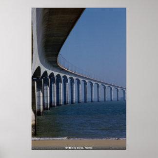 Bridge Ile de Re, Frankreich Poster