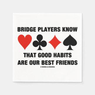 Bridge-Spieler kennen gute Gewohnheits-beste Serviette