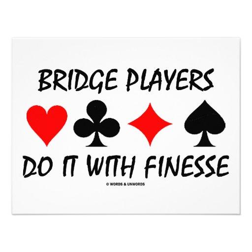 Bridge-Spieler tun es mit Finesse (Brücken-Spaß) Individuelle Einladungskarten