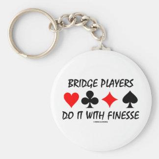 Bridge-Spieler tun es mit Finesse (Brücken-Spaß) Schlüsselanhänger