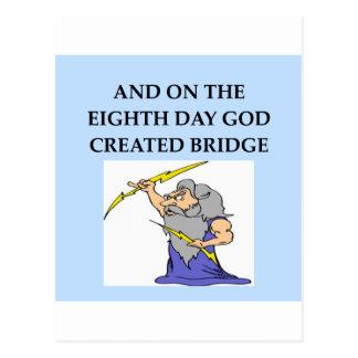 Bridge-Spieler Witz Postkarte