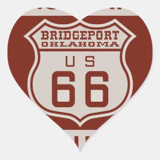 BRIDGEPORT66 Herz-Aufkleber