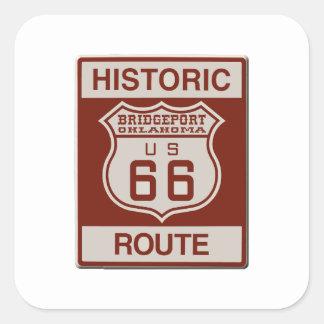 BRIDGEPORT66 QUADRATISCHER AUFKLEBER