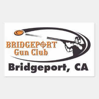 Bridgeport-Gewehr-Verein-Aufkleber Rechteckiger Aufkleber