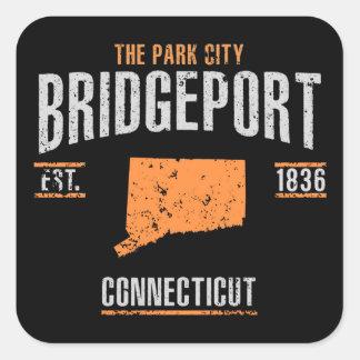 Bridgeport Quadratischer Aufkleber