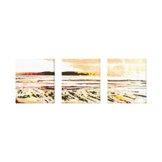 Bridgewater N.S. Risers abstrakte Druckkunst Beach Leinwanddruck