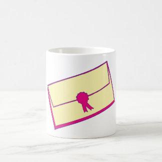 Brief letter kaffeetasse