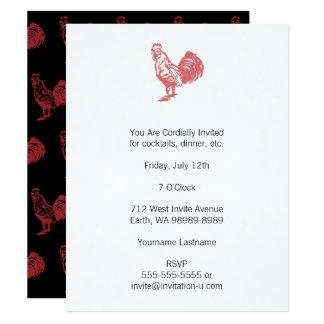 Briefbeschwerer-Art-Rot-Hahn 10,8 X 14 Cm Einladungskarte