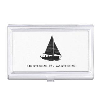 Briefbeschwerer-Art-Segelboot Visitenkarten Etui