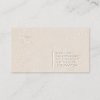 Briefbeschwerer-berufliche einfache visitenkarte