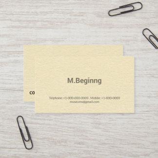 Briefbeschwerer-cremefarbenes berufliches visitenkarte