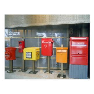 Briefkästen aus der ganzen Welt Postkarte
