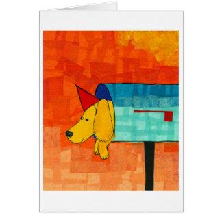 Briefkasten-Hund Karte