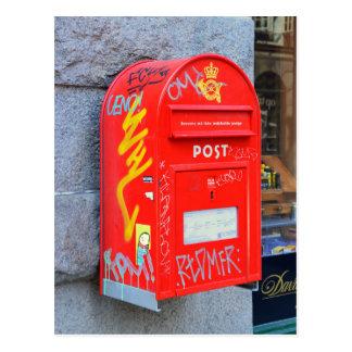 Briefkasten in Kopenhagen, Dänemark Postkarte
