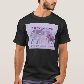 Briefmarke heraus Alzheimer T-Shirt