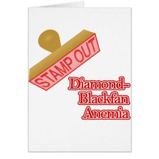 Briefmarke heraus Diamant-Blackfan Anämie Karte