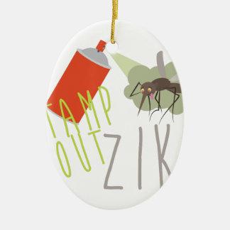 Briefmarke heraus Zika Ovales Keramik Ornament