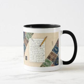 Briefmarken-Einklebebuch-Tasse Tasse