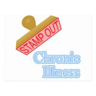 Briefmarken-heraus chronische Krankheit Postkarte
