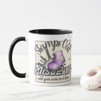 Briefmarken-heraus Frauenhaß lustiges großes lila Tasse