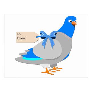 Brieftaube/geben ihnen die Vogelpostkarte Postkarte