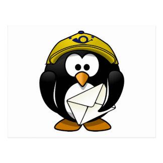Briefträgerpenguin-Vogel-Cartoon Postkarte