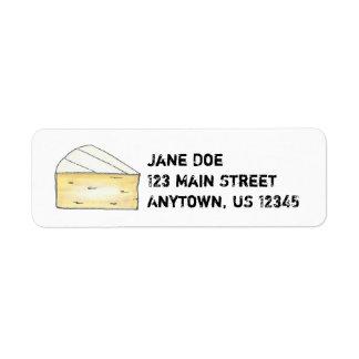 Briekäse-Käse-Keil-sahnige französische Nahrung,