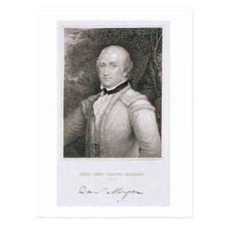 Brigadegeneral-Daniel Morgan (1736-1802) engrav Postkarte