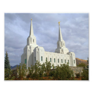 Brigham Stadt Utah LDS, mormonischer Tempel Fotodruck