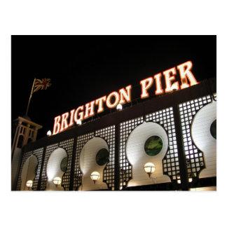 Brighton-Pier, Sussex, Großbritannien Postkarte