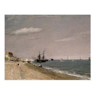 Brighton-Strand mit Bergmännern, 1824 Postkarte