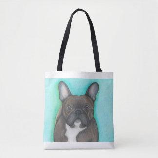 Brindle Aqua-Taschentasche der französischen Tasche