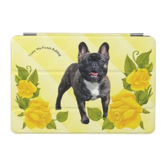 Brindle französische Bulldogge mit gelben Rosen iPad Mini Hülle