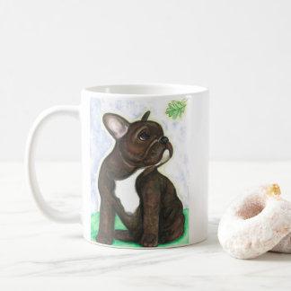 Brindle Welpen-Tasse der französischen Bulldogge Kaffeetasse