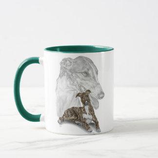 Brindle Windhund-Hundekunst Tasse