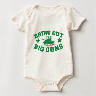 BRINGEN Sie DIE GROSSEN GEWEHRE mit Behälterwaffe Baby Strampler