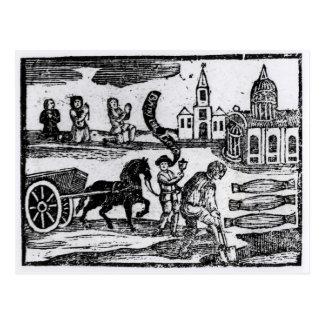 Bringen Sie Ihre Toten, die große Pest von 1665 Postkarten