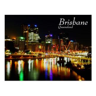 Brisbane nachts 1 postkarte