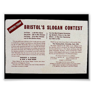 Bristols Slogan-Wettbewerb Plakatdrucke
