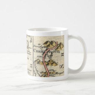Britannia Depicta (Crookhorn/Plymouth-Karte) Kaffeetasse