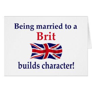 Brite errichtet Charakter Karte