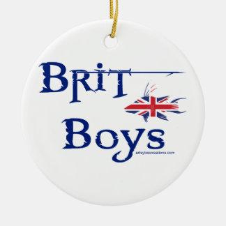 Brite-Jungen Keramik Ornament