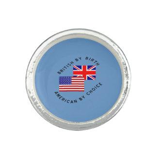 Briten durch Geburts-Amerikaner durch Wahl Foto Ringe