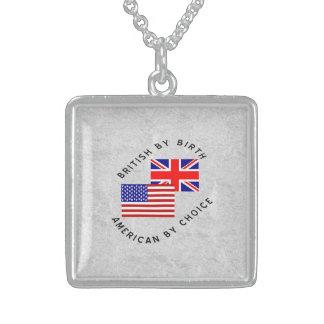 Briten durch Geburts-Amerikaner durch Wahl Sterling Silberkette