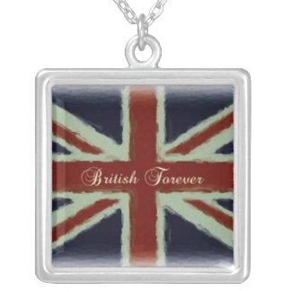Briten für immer! - Gewerkschafts-Jack-Entwurf Versilberte Kette